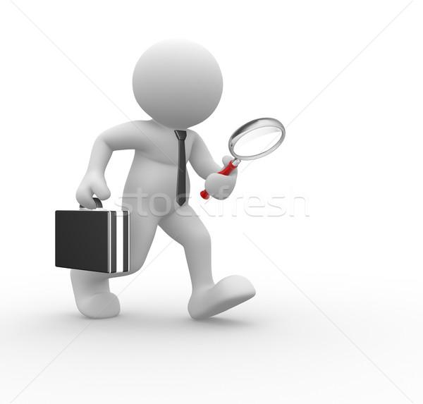 ビジネスマン 3次元の人々 人間 文字 人 ストックフォト © coramax