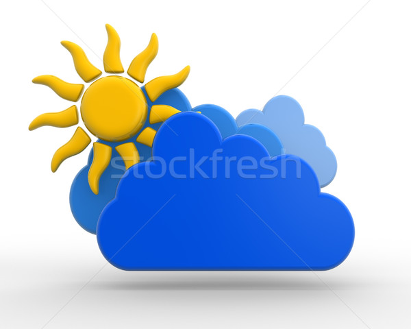 Sun with cloud Stock photo © coramax