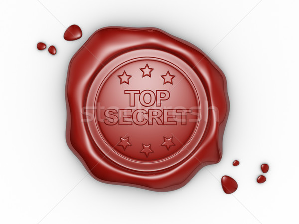 Cera sello pequeño estrellas palabra superior Foto stock © coramax