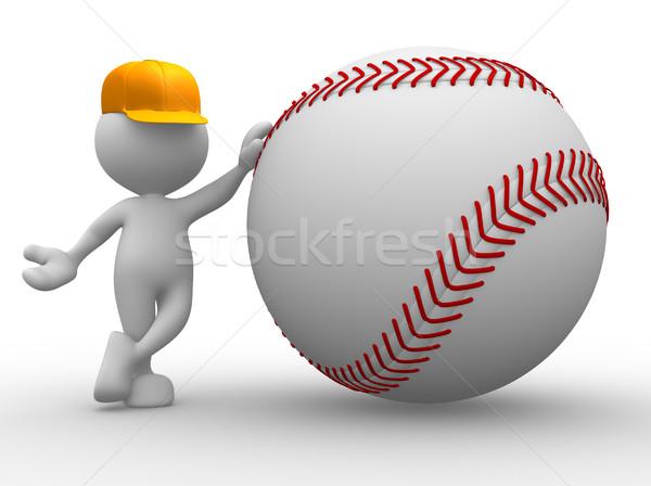 Baseball palla la gente 3d uomo persona estate Foto d'archivio © coramax