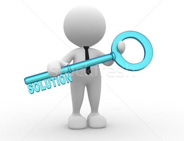 Affaires gens 3d homme personne clé Photo stock © coramax