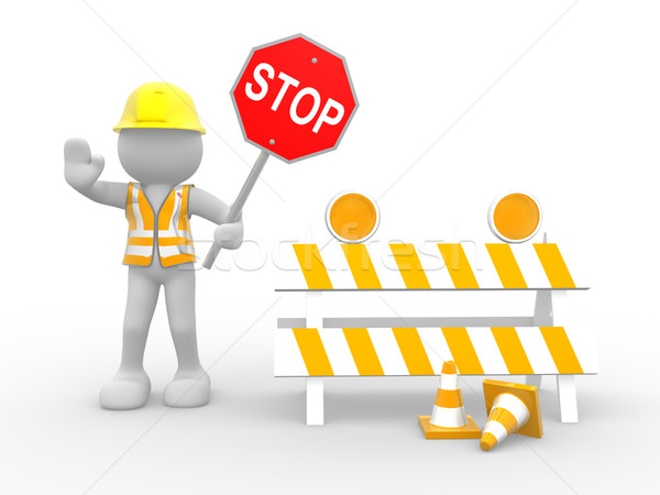 Construction worker Stock photo © coramax