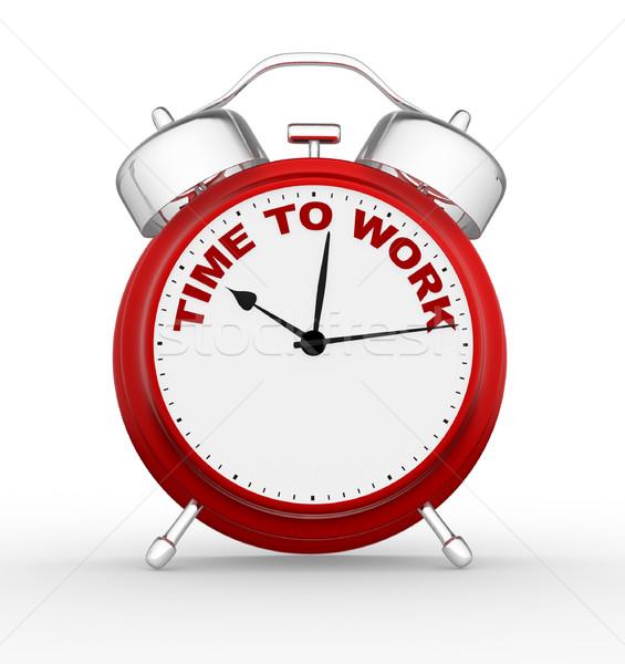 Foto stock: Reloj · 3D · tiempo · trabajo · primer · plano · 3d