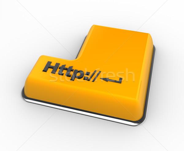 Toetsenbord 3D http knop 3d render technologie Stockfoto © coramax