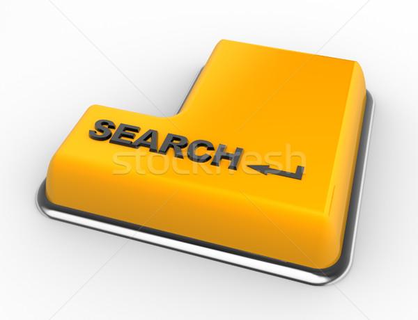 Botão 3D teclado pesquisar 3d render negócio Foto stock © coramax