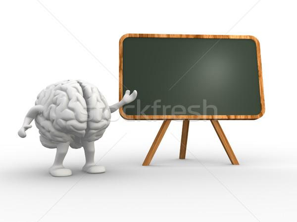 脳 3D インテリジェンス 3dのレンダリング 教育 科学 ストックフォト © coramax