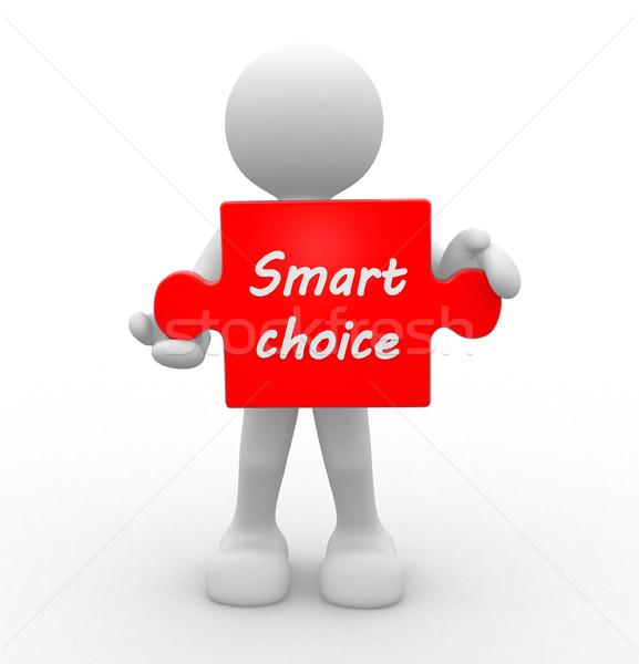 Okos választás 3d emberek férfi személy siker Stock fotó © coramax