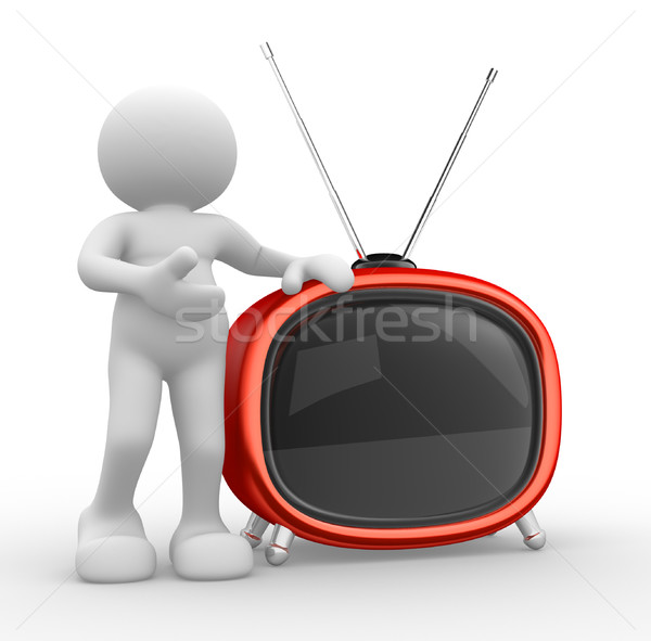 Old tv Stock photo © coramax
