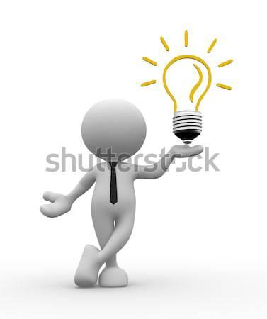 電球 3次元の人々 男 人 ビジネス 作業 ストックフォト © coramax