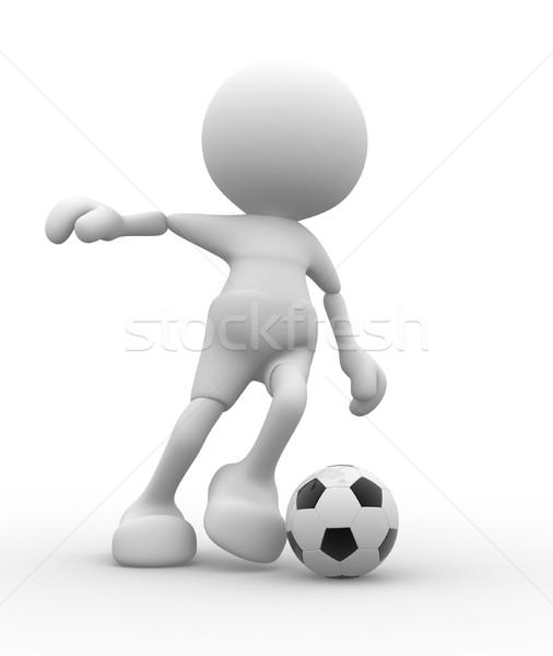 3d pessoas homens pessoa bola Foto stock © coramax