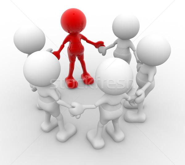 Squadra la gente 3d uomini persona cerchio Foto d'archivio © coramax