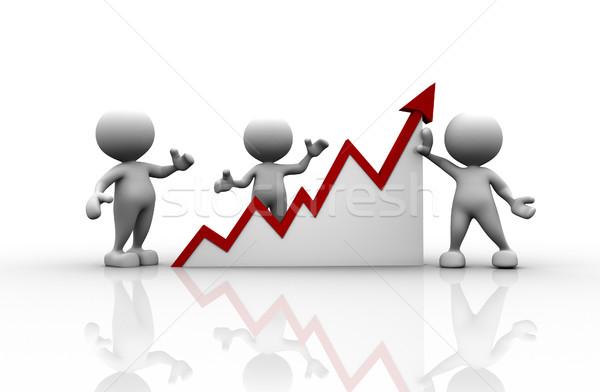 Grafik 3d insanlar adam kişi finansal arka plan Stok fotoğraf © coramax