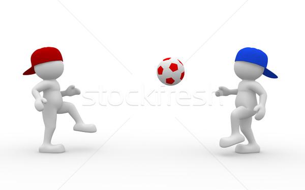 Futebol bola 3d pessoas humanismo pessoa Foto stock © coramax