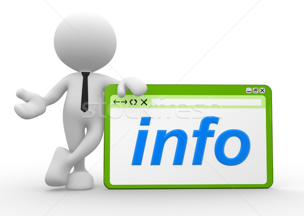 Info 3d osób człowiek osoby przeglądarka słowo Zdjęcia stock © coramax