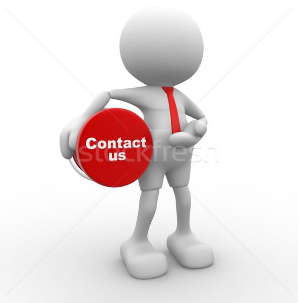 3次元の人々 男 人 ボタン ビジネス ストックフォト © coramax