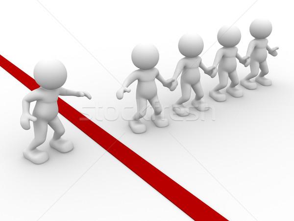 Segítő kéz 3d emberek emberi karakter személy együttműködés Stock fotó © coramax