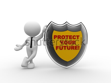 Shield. 100% SAFETY  Stock photo © coramax