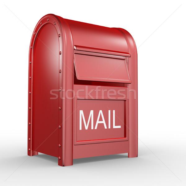 почтовый ящик почтовый ящик изолированный белый 3d иллюстрации бизнеса Сток-фото © coramax