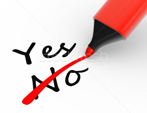 Jelző választás igen nem 3d render ír Stock fotó © coramax