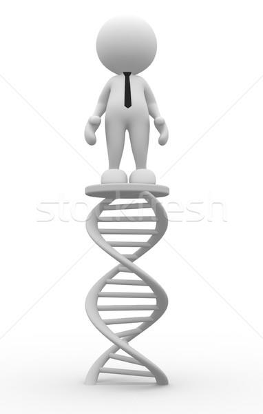 DNS 3d emberek férfi személy üzletember gyógyszer Stock fotó © coramax