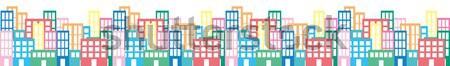 иллюстрация Cityscape дома дороги здании город Сток-фото © coroichi