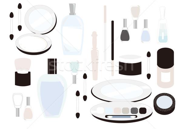 Ilustração cosméticos mulheres garrafa escove rosa Foto stock © coroichi