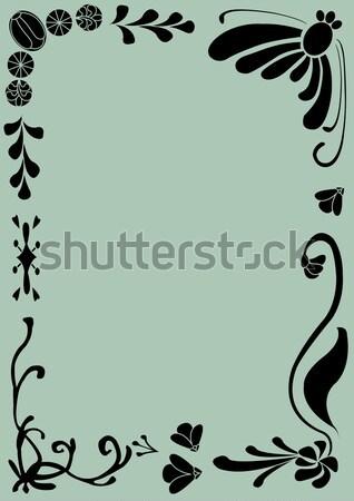 Ramki kwiatowy drzewo wiosną trawy ogród Zdjęcia stock © coroichi