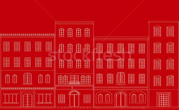 улиц город семьи строительство улице дизайна Сток-фото © coroichi