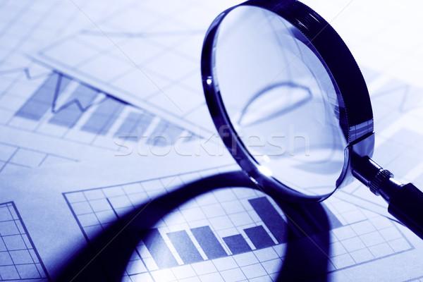 Iş grafik kâğıt sanayi pazarlama Stok fotoğraf © cosma