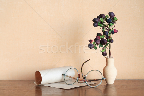 Flower And Spectacles Stock photo © cosma