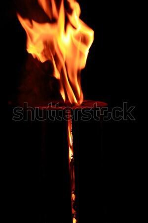 Yangın gece alev soyut yanan Stok fotoğraf © cosma