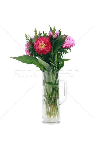 花 ガラス マグ 白 孤立した ストックフォト © cosma