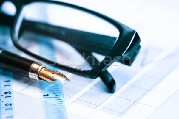 Pen And Spectacles Stock photo © cosma