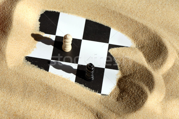 Chess In Sand Stock photo © cosma