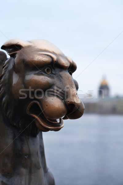 грифон древних скульптуры бронзовый реке Сток-фото © cosma