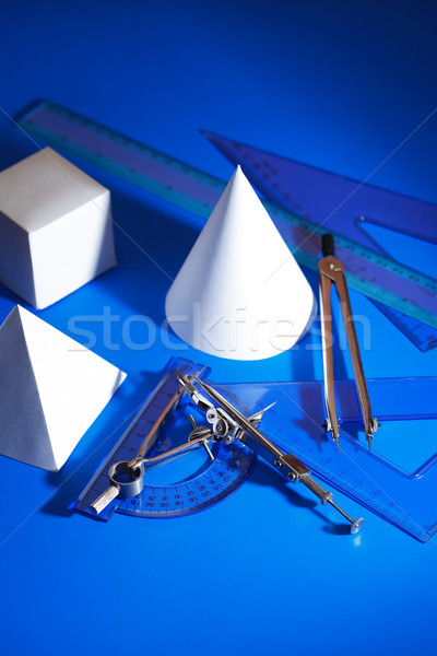Geometric Shapes And Tools Stock photo © cosma