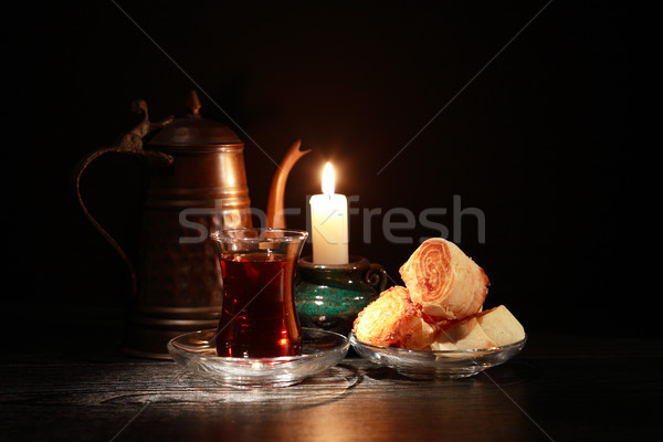 Sweet And Candle Stock photo © cosma