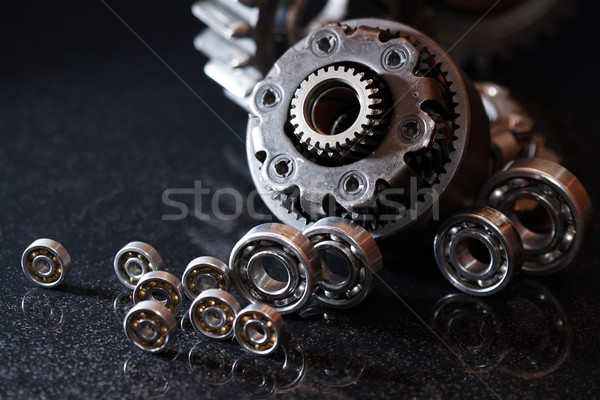 Gears On Dark Stock photo © cosma