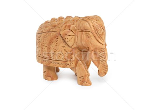 сувенир Индия миниатюрный слон белый Сток-фото © cosma