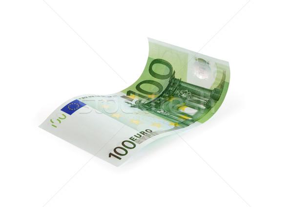 Jeden sto euro Uwaga biały odizolowany Zdjęcia stock © cosma