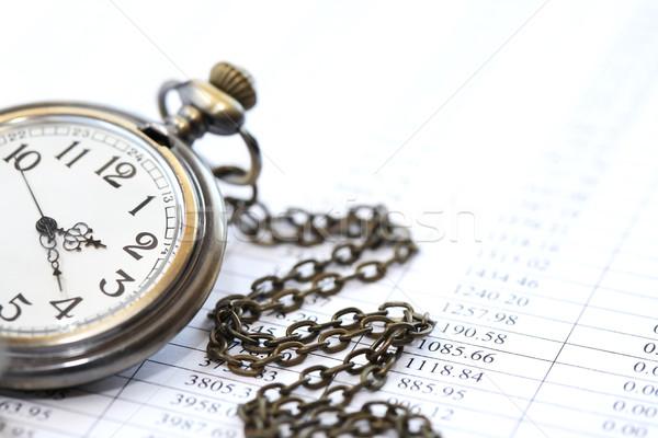 Ver dígitos negócio relógio de bolso papel Foto stock © cosma