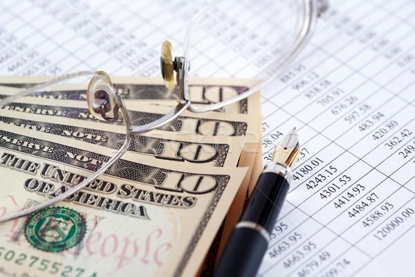 金融 簿記 クローズアップ 眼鏡 ペン ドル ストックフォト © cosma