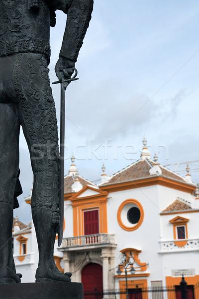 Aréna darab szobor híres Spanyolország épület Stock fotó © cosma