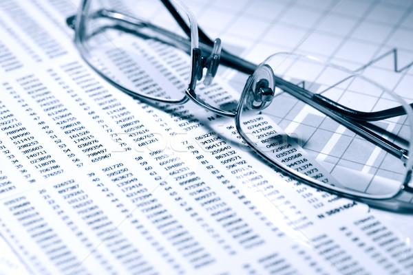 óculos dígitos negócio papel indústria sucesso Foto stock © cosma