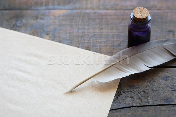 Scroll And Quill Stock photo © cosma