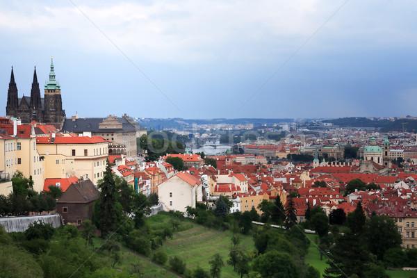 Prague Under Cloudy Sky Stock photo © cosma