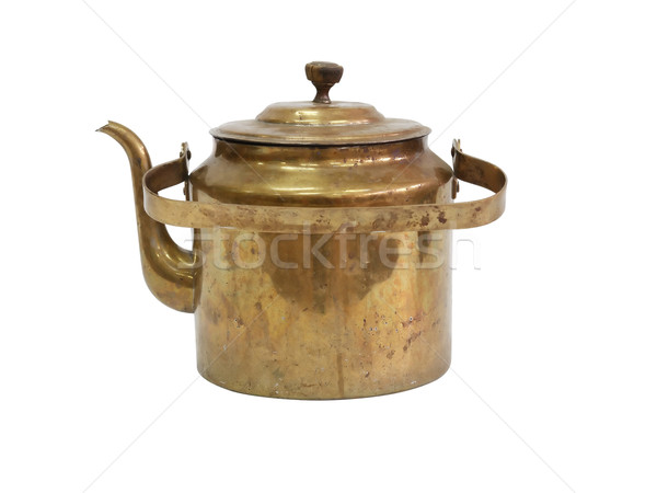 Old Brass Kettle Stock photo © cosma