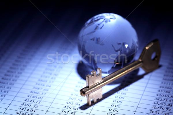 Globalny gospodarki działalności szkła świecie kluczowych Zdjęcia stock © cosma