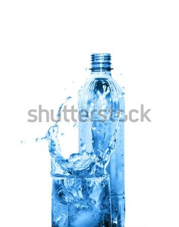Stock fotó: ásványvíz · üveg · csobbanás · víz · műanyag · üveg