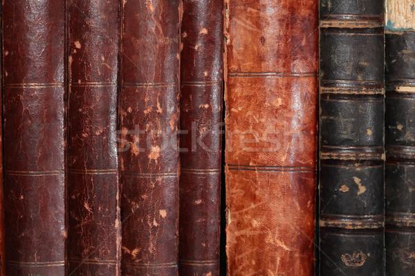 öreg könyvek szett csetepaté könyv háttér Stock fotó © cosma